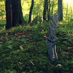 нож лес трава