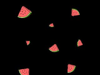 ftestickers watermelon mask fruit summer
