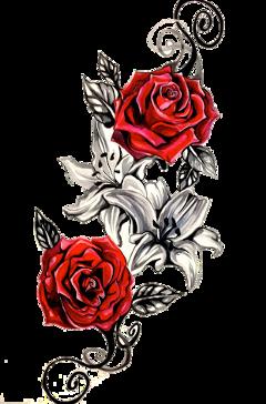 tatuaje rosas freetoedit