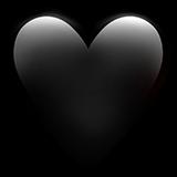 emoji heart black freetoedit