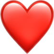 redheart heart overlay emoij freetoedit
