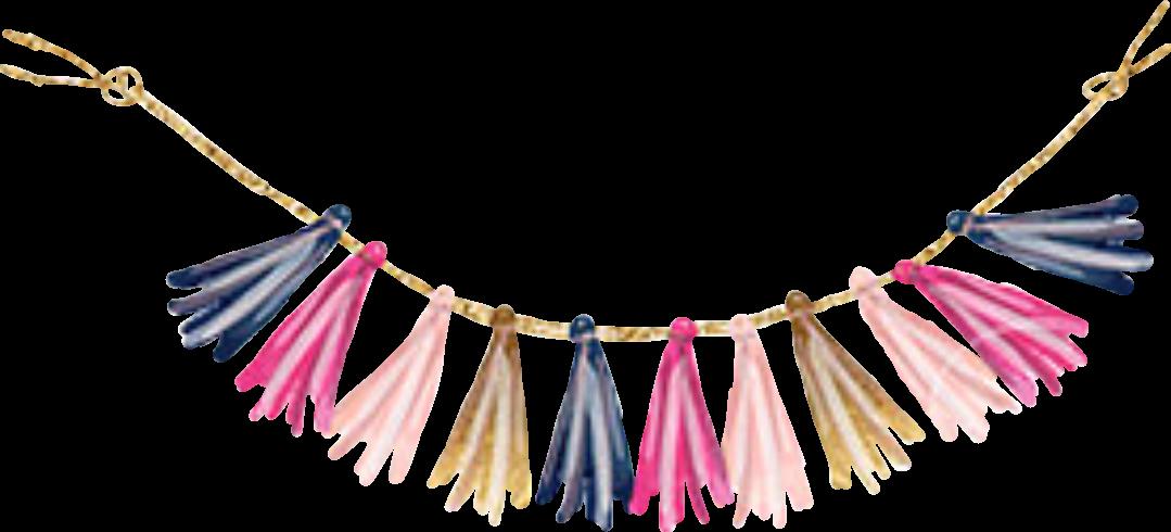 #tassels #banner#blue #pink #gold #glitter #sparkly #celebrate #sticker