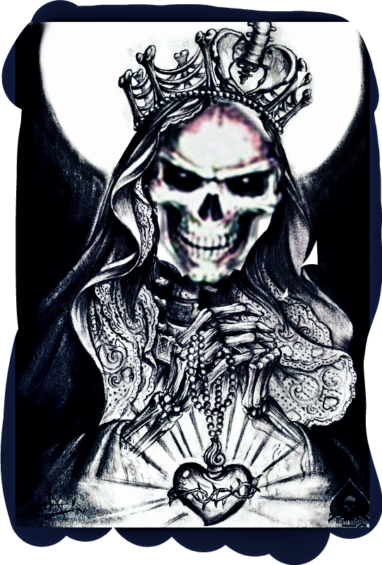 Santa Muerte Sticker By Nicole