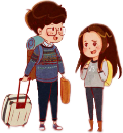 pareja viaje adios chibi teen freetoedit