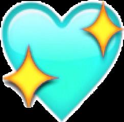 sparkles blue heart freetoedit