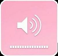 volumen music pink bold png