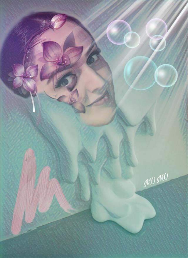 good morning dear @pa friends 😘#myartwork #artisticselfie #abstract #shapemask #remixed from @lena1508