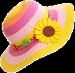 yellow summer hat freetoedit