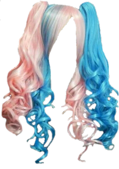 wig hair colorful pink blue