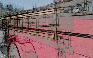 freetoedit pencilart firetruck red