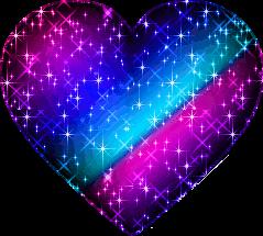 sticker heart rainbow brightheart stars