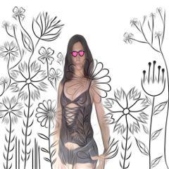 camuflage flores woman freetoedit