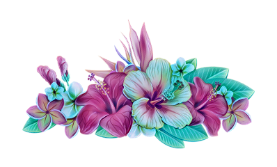 crown tropical flowers ftestickers