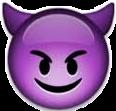 iphoneemoji emoji lit devilish freaky
