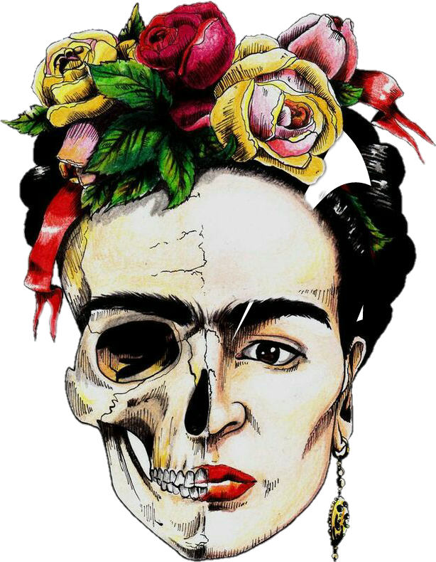 #colorful #Frida #Kahlo #FridaKahlo #beautiful #mexicanskull #skull #México #mexican #beautifull