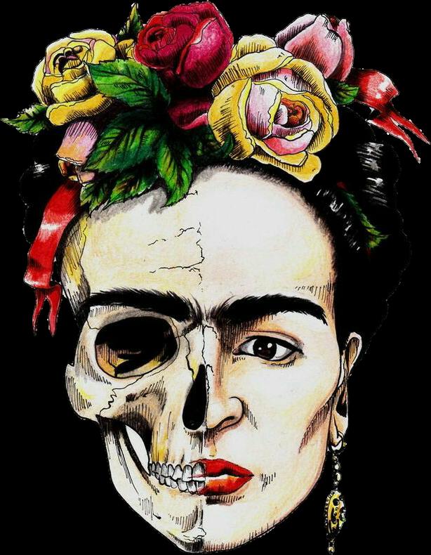 #colorful #Frida #Kahlo #FridaKahlo #beautiful #mexicanskull #skull #México #mexican #beautifull