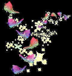 ftestickers butterflys freetoedit