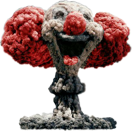 #clown #boom #smoke #inspiration #devastation