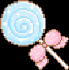 candy lollipop blue pixel tumblr