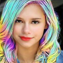 freetoedit rainbowhair rainbow beauty colorfulhair