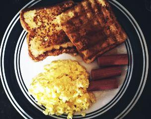 frenchtoast scrambledeggs sausages freetoedit dpcmybreakfast
