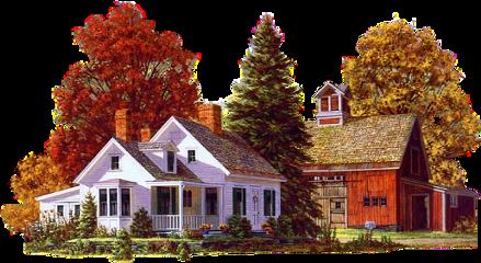 sticker houses home nature tree freetoedit
