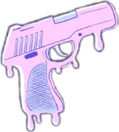 gun pistol pink pastel kawaii