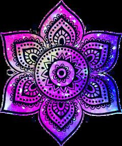 galaxy flower mandala girly pretty