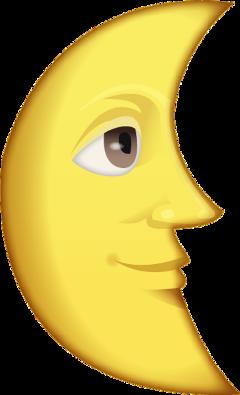 sticker emoji moon freetoedit