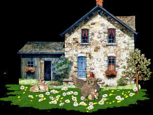 sticker house littlehhouse nature tree