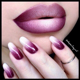 lipstickday ombre nails pretty freetoedit