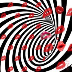 freetoedit red lipstickday spiral trippy