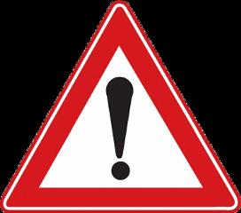 achtung dikkat tehlike trafik verkehrsschild