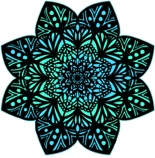 Sticker Mandalas Mandala Blue Green Tumblr