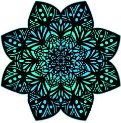 sticker mandalas mandala blue green