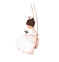 girl reading swing freetoedit