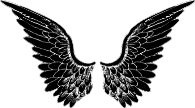 wings wing tumblr black blackandwhite freetoedit