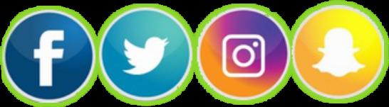social iphone instgram twitter snapchat
