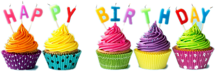 birthday colorful balloon happy cupcakes freetoedit