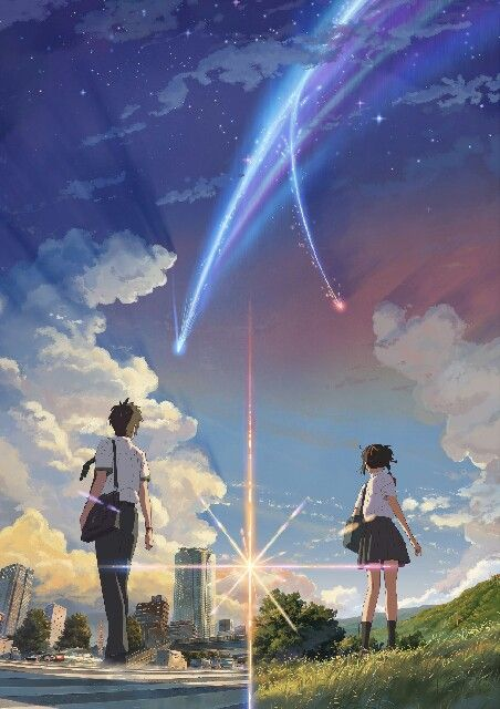 Anime Animeedit Kiminonawa Dibujo Cielo