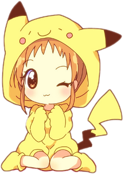 kawaii sticker cute pikachu cutegirl