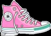 pink basket cool converse shoes freetoedit