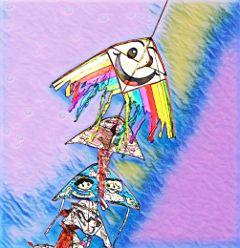 freetoedit kites sky smile