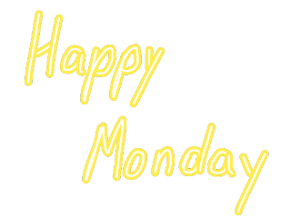 ftestickers text yellow neon happymonday