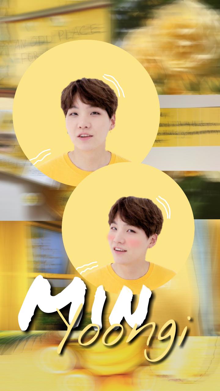 Bts Edit Minyoongi Yoongi Suga Kpop Aesthetic Yellow