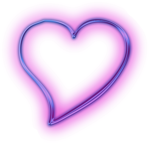purple heart snapchat neon glowing...