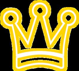 crown snapchat neon gold yellow