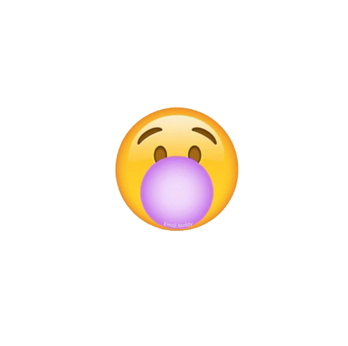 emoji emoticon bubblegum bubble blow yellow ios whatsap