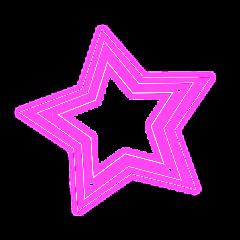 star neon glow ftestickers freetoedit