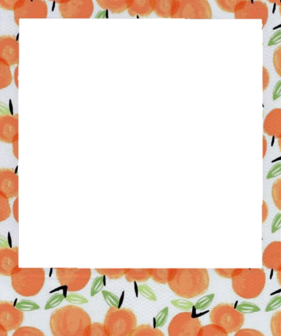 polaroid aesthetic peach orange frame photoframe sticke...